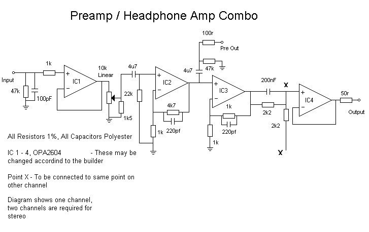Preamp combo Circuit Diagram